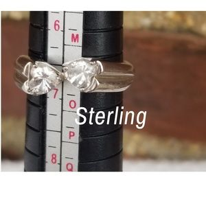 Sterling and CZ ring size 7